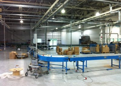 Production floor services installation