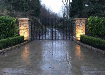 Twin leaf automated gate and intercom system installation