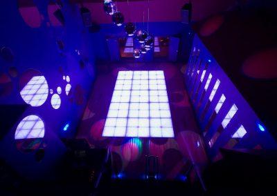Disco bar effect lighting installation