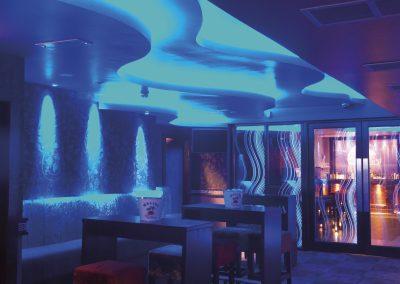 Niteclub effect lighting installation