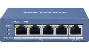 Hikvision 4-Port Gigabit Unmanaged PoE Switch