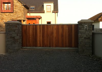 Automated sliding gate and intercom system installation