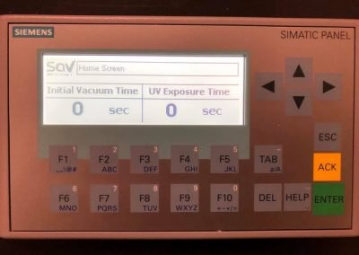Automated exposure unit HMI interface