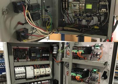 Machine control circuit upgrade before and after pictures