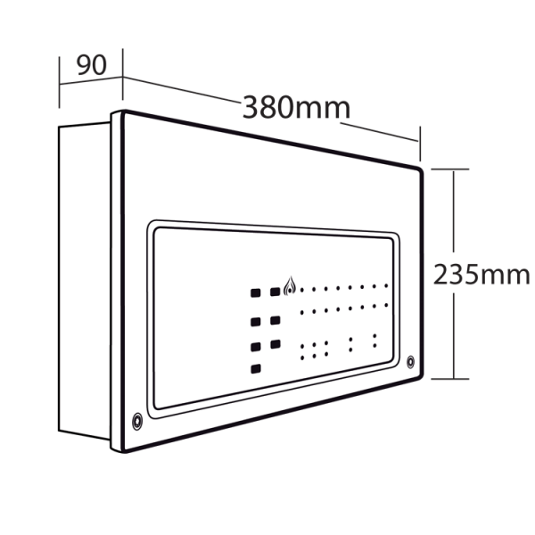 C-TEC CFP Standard 4 Zone Conventional Fire Alarm Panel