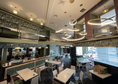 Decorative commercial lighting installation