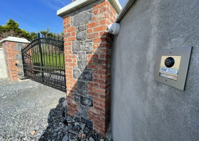 Twin leaf automated gate system, IP CCTV and intercom system installation